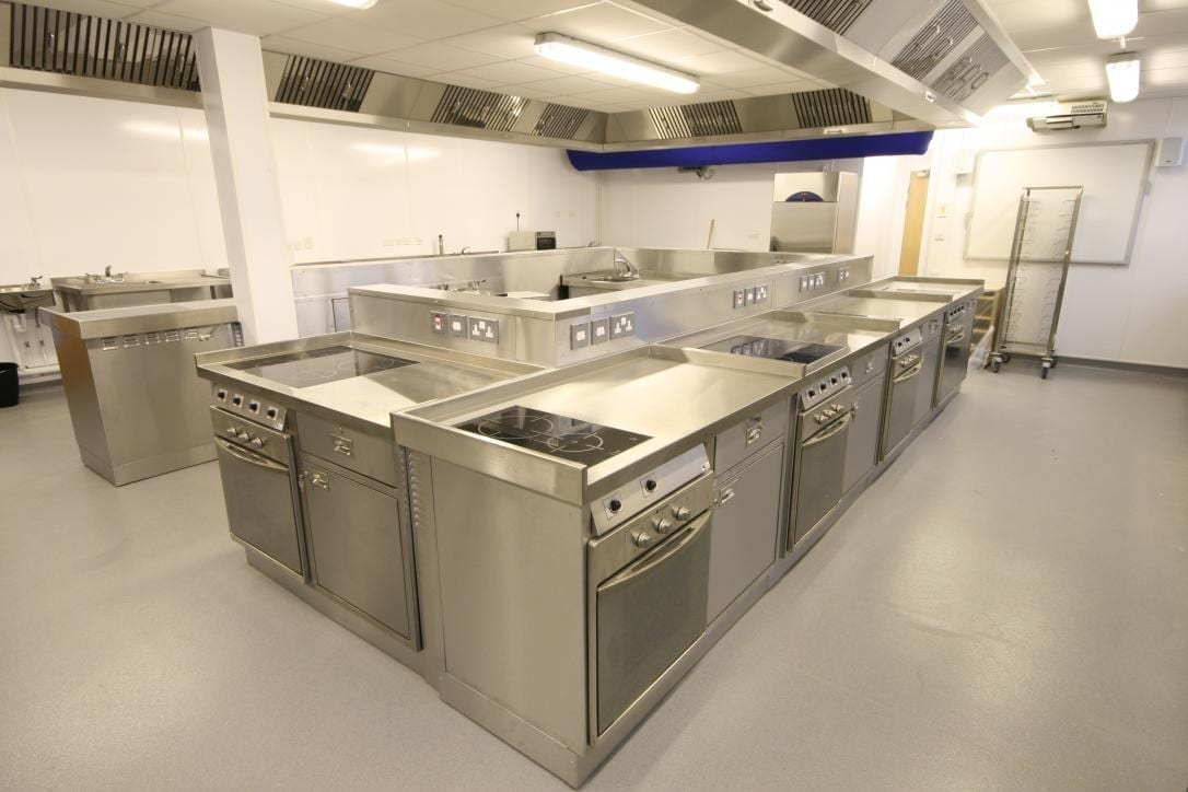 Launchpad Gloucester College Training Commercial Kitchen Fabrication Stainless Steel spacecatering 2
