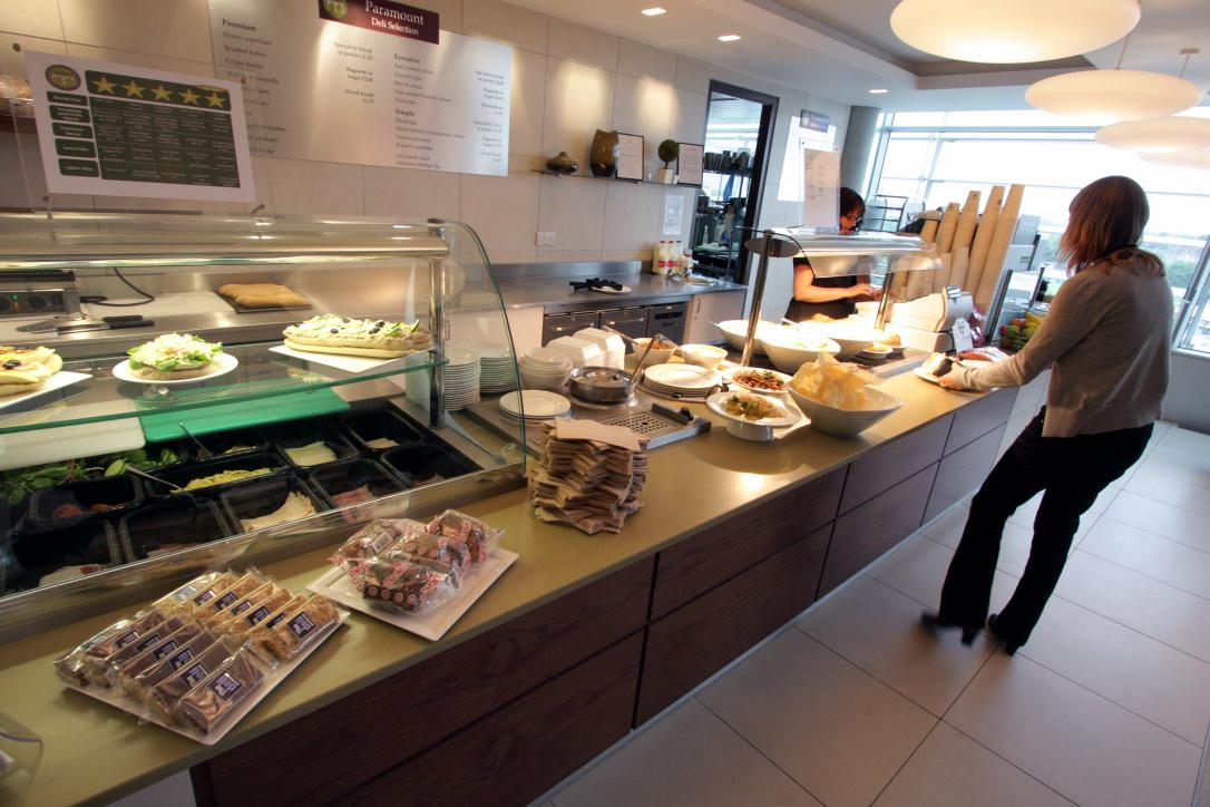 Paramount Pictures Charlton House Catering Chiswick Servery Front of house Servery Food Display spacecatering 7