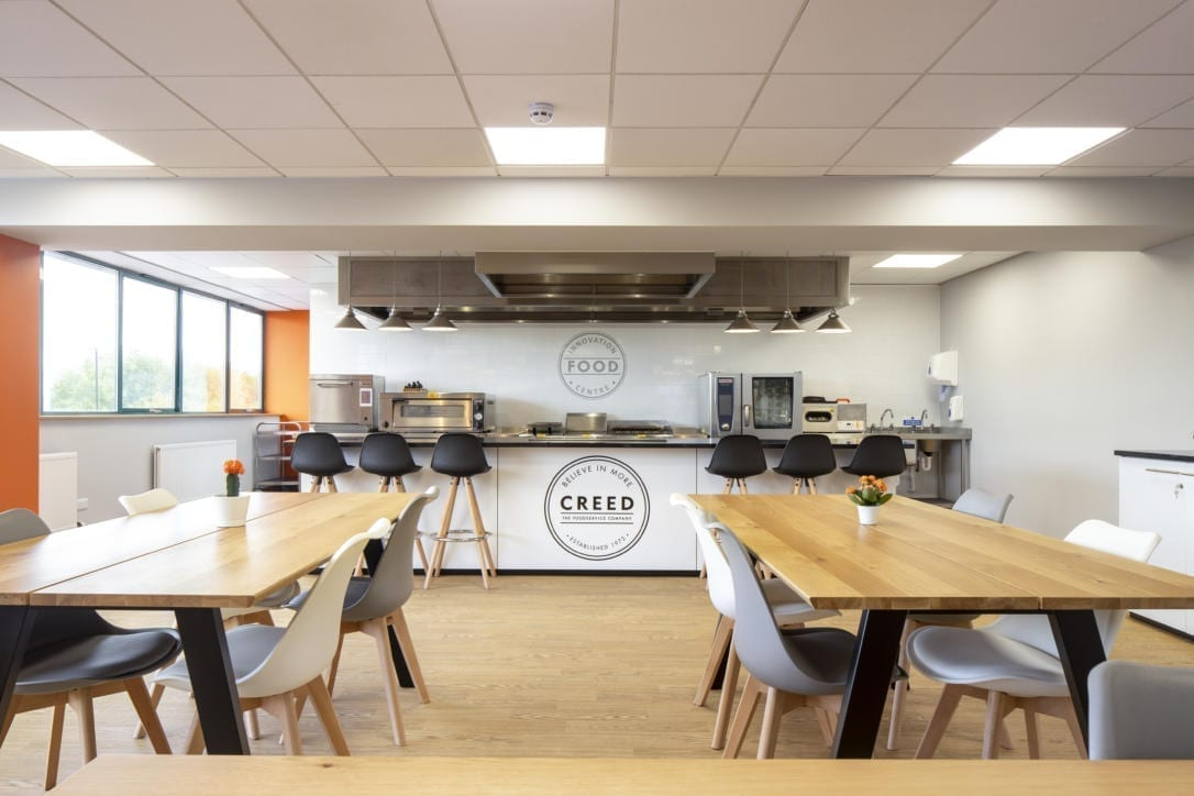 Creed demo kitchen fit-out