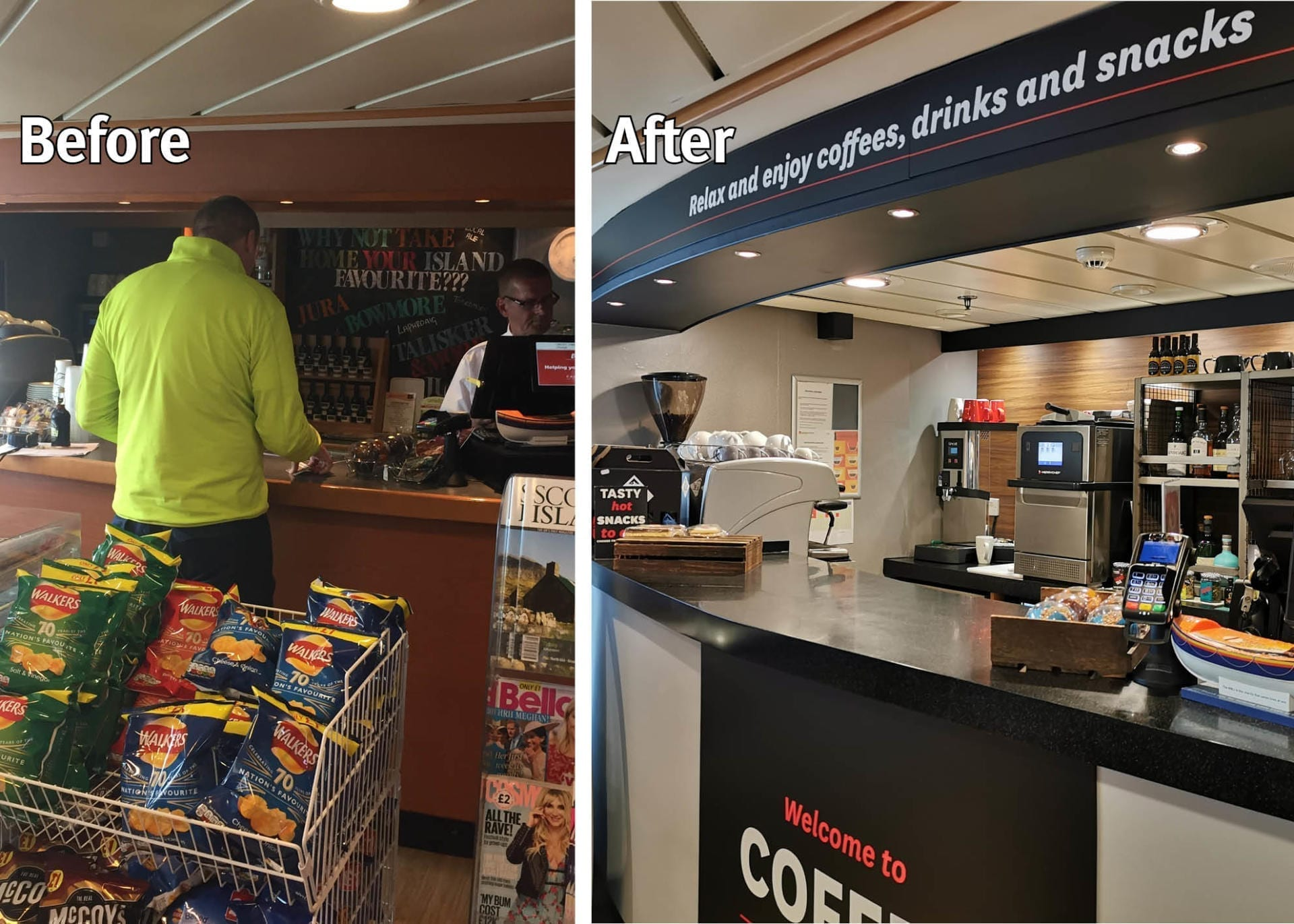 Before and after Calmac