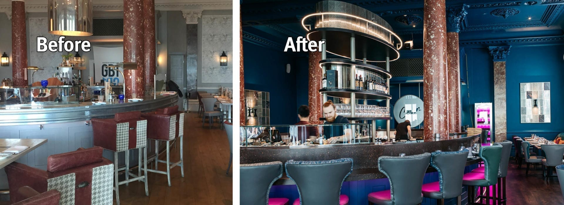 Grand Brighton before and after bar