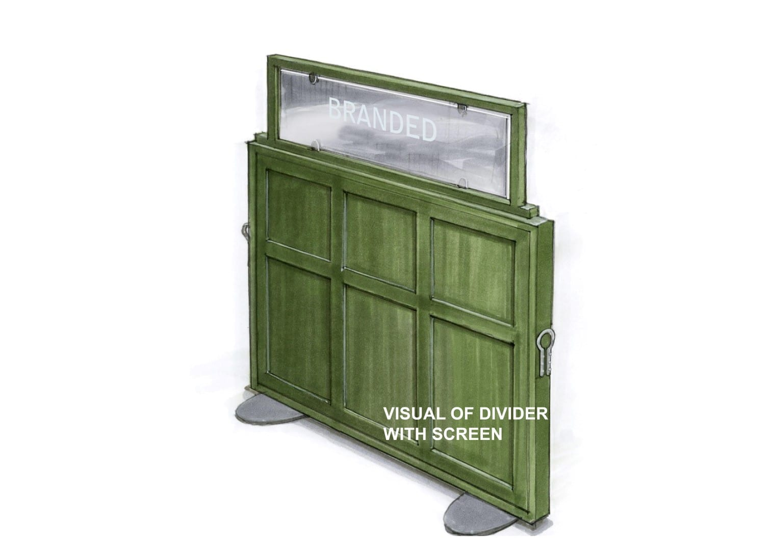 visual of divider with screen