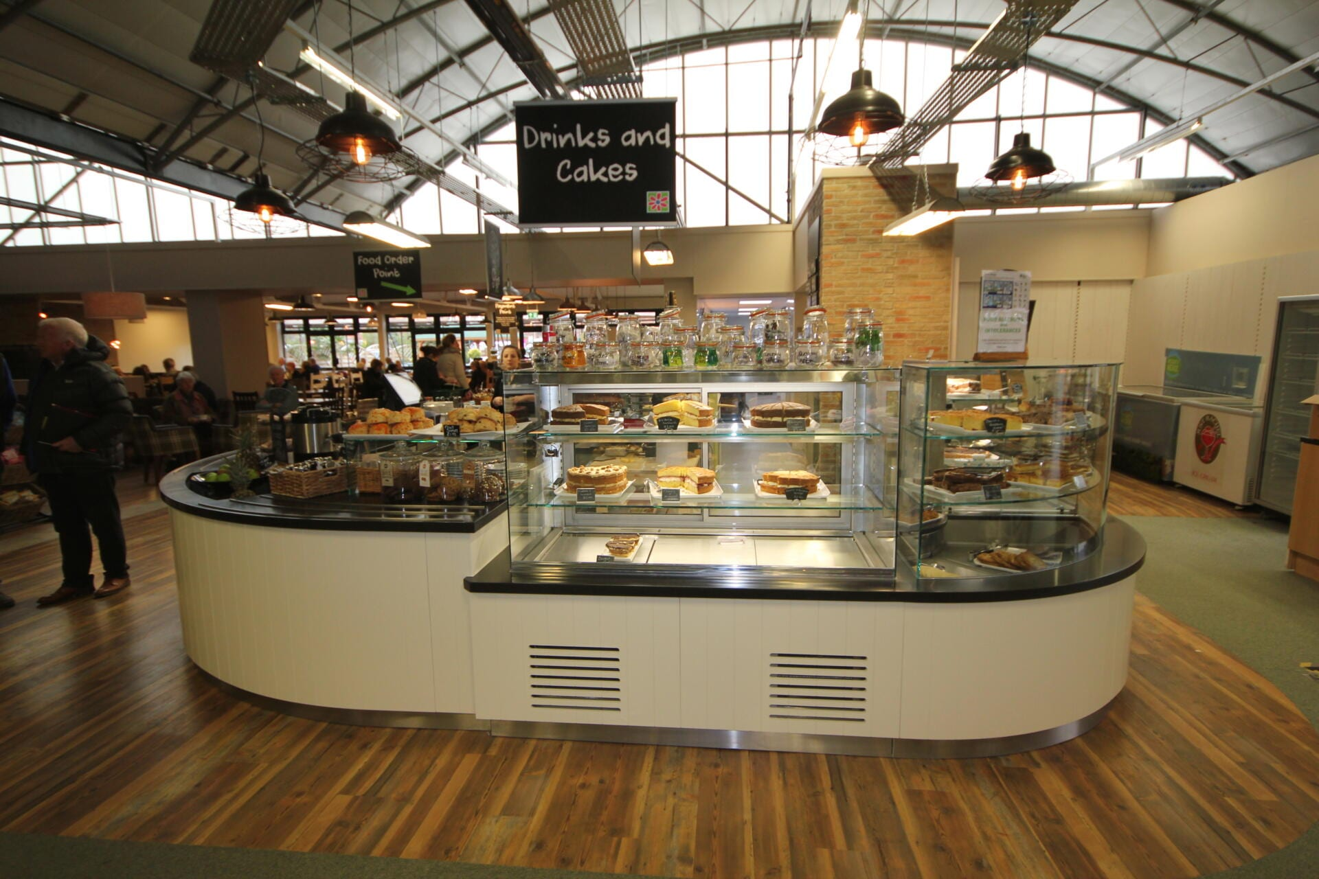 St Peters (servery counter, ambient patisserie display)