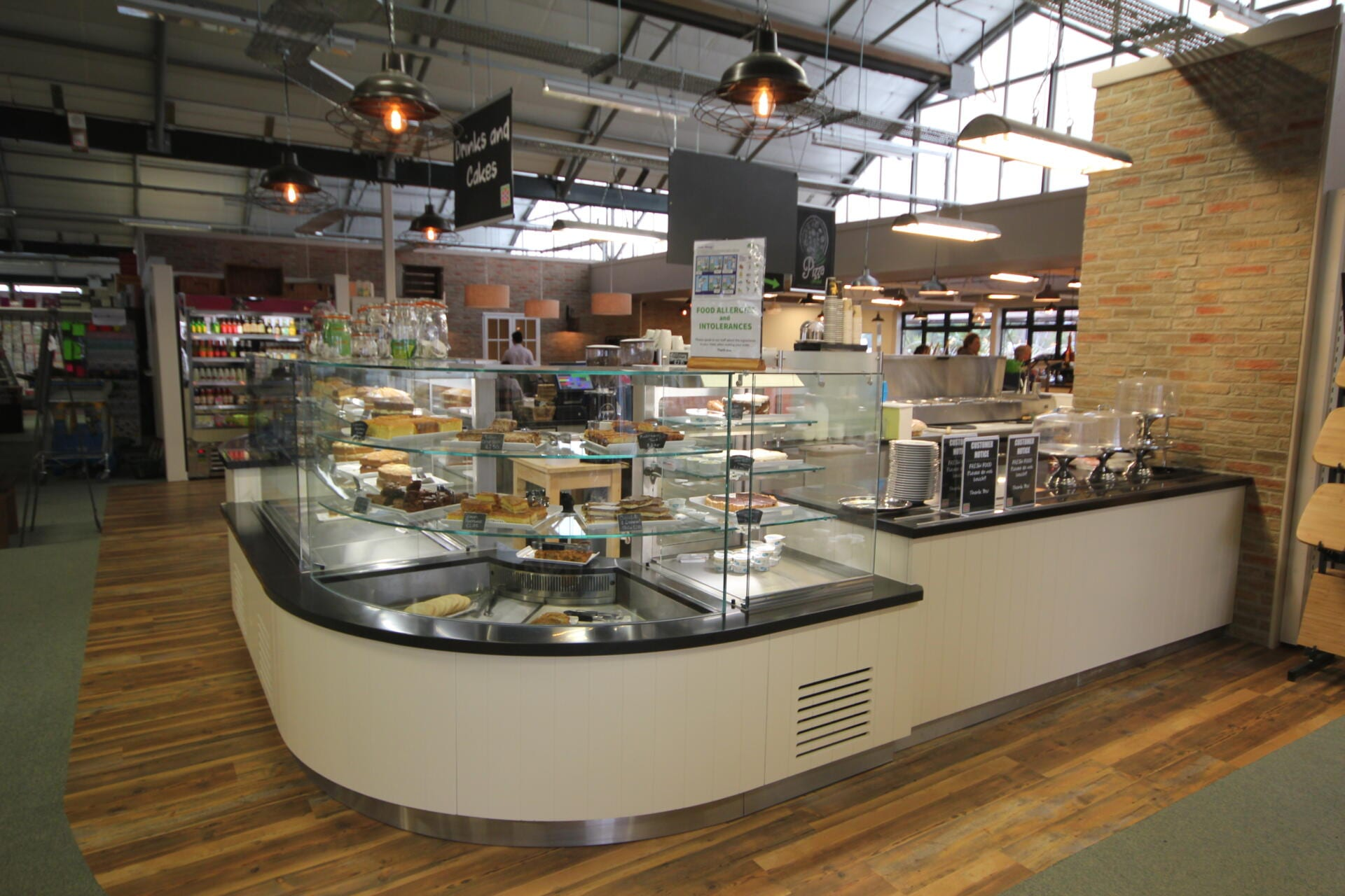 St Peters (servery counter,drop in chilled multideck,ambient patisserie display)