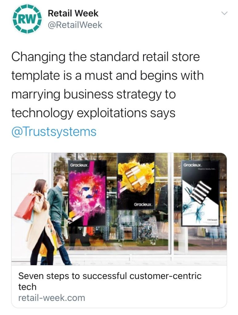 Retail week tweet
