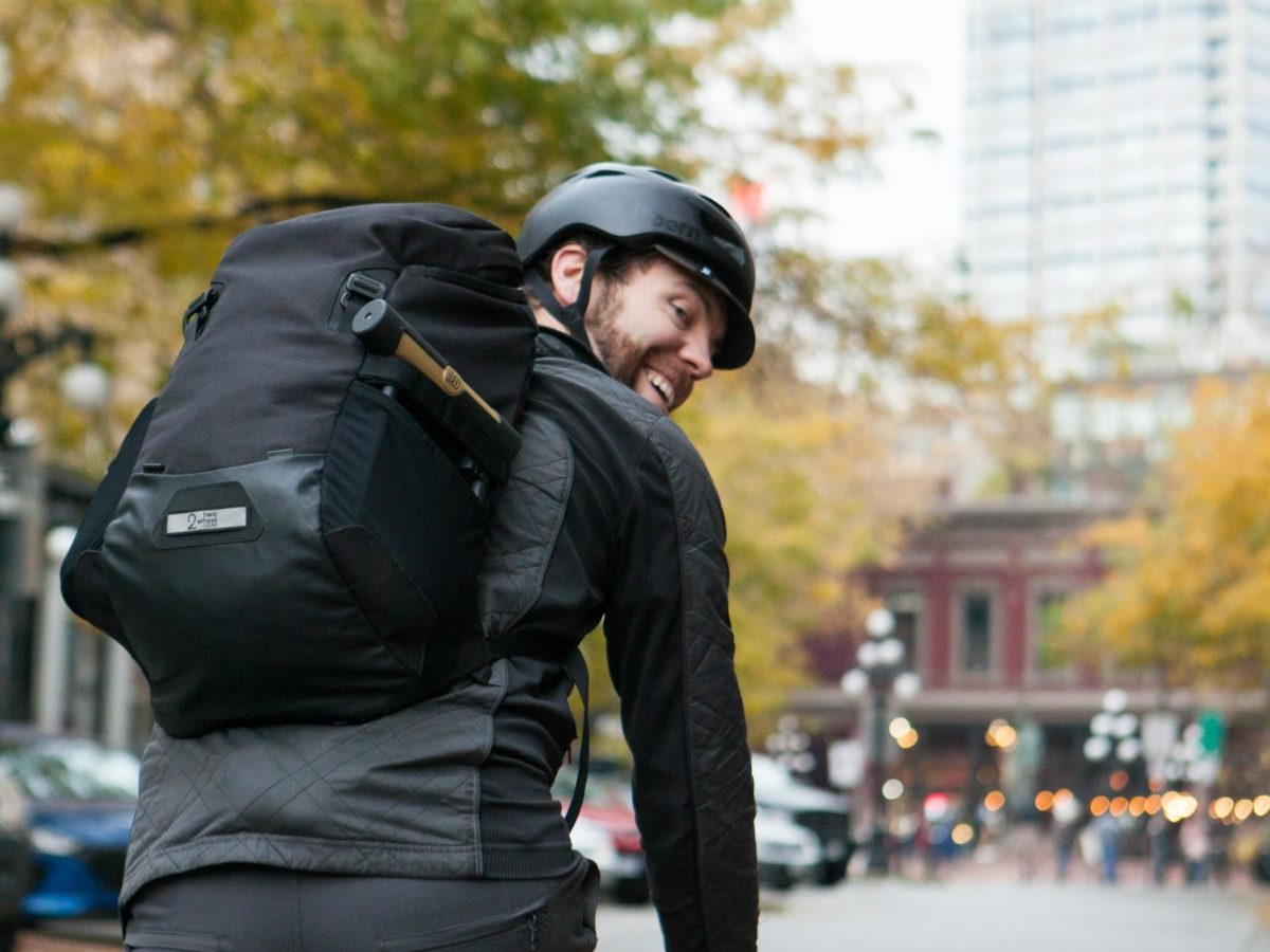 Two Wheel Gear – Commute Backpack – Black – Bike Commuter