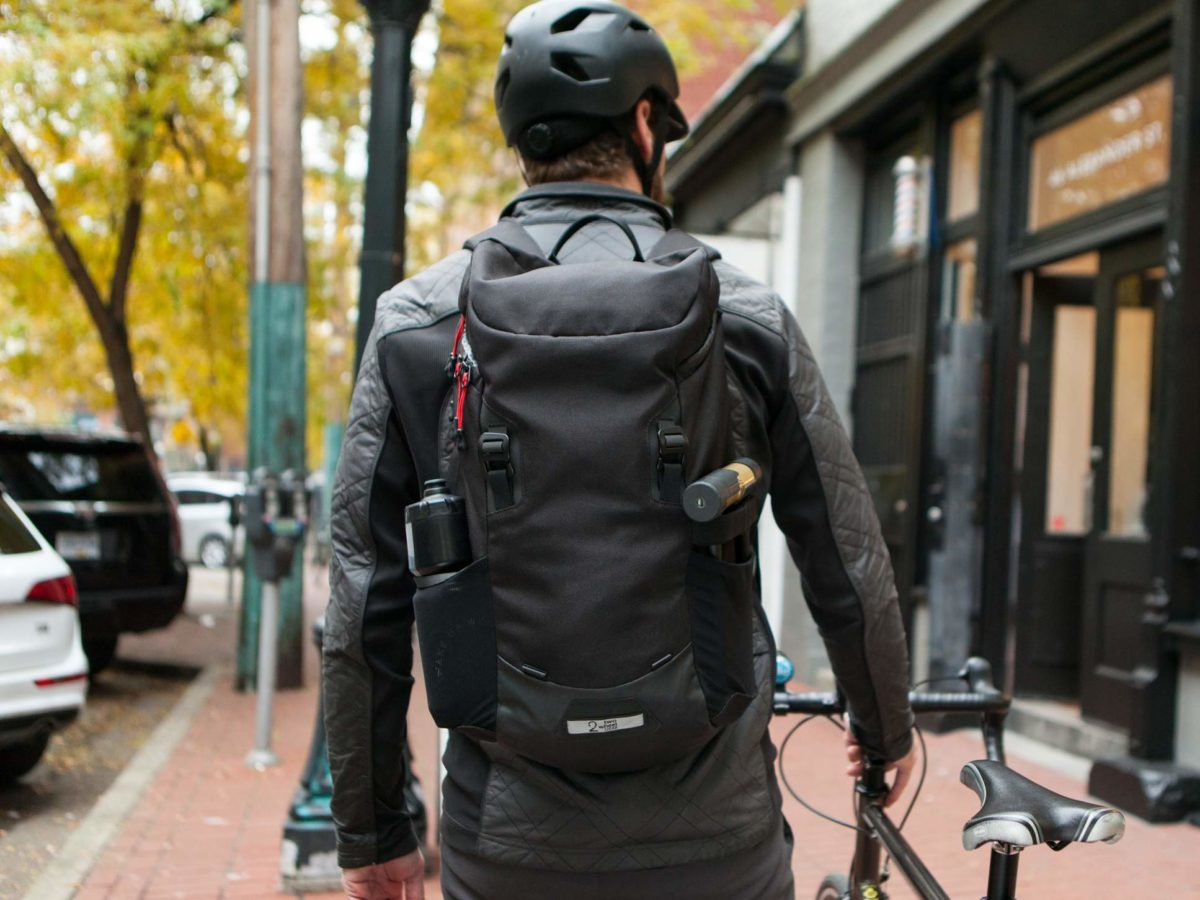 Two Wheel Gear – Commute Backpack – Black – On Bike Commuter