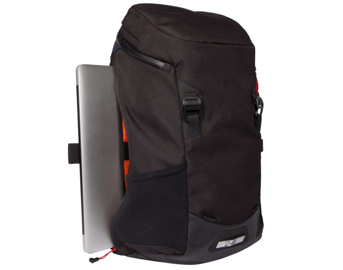 Two Wheel Gear – Commute Backpack – Black-side-laptop
