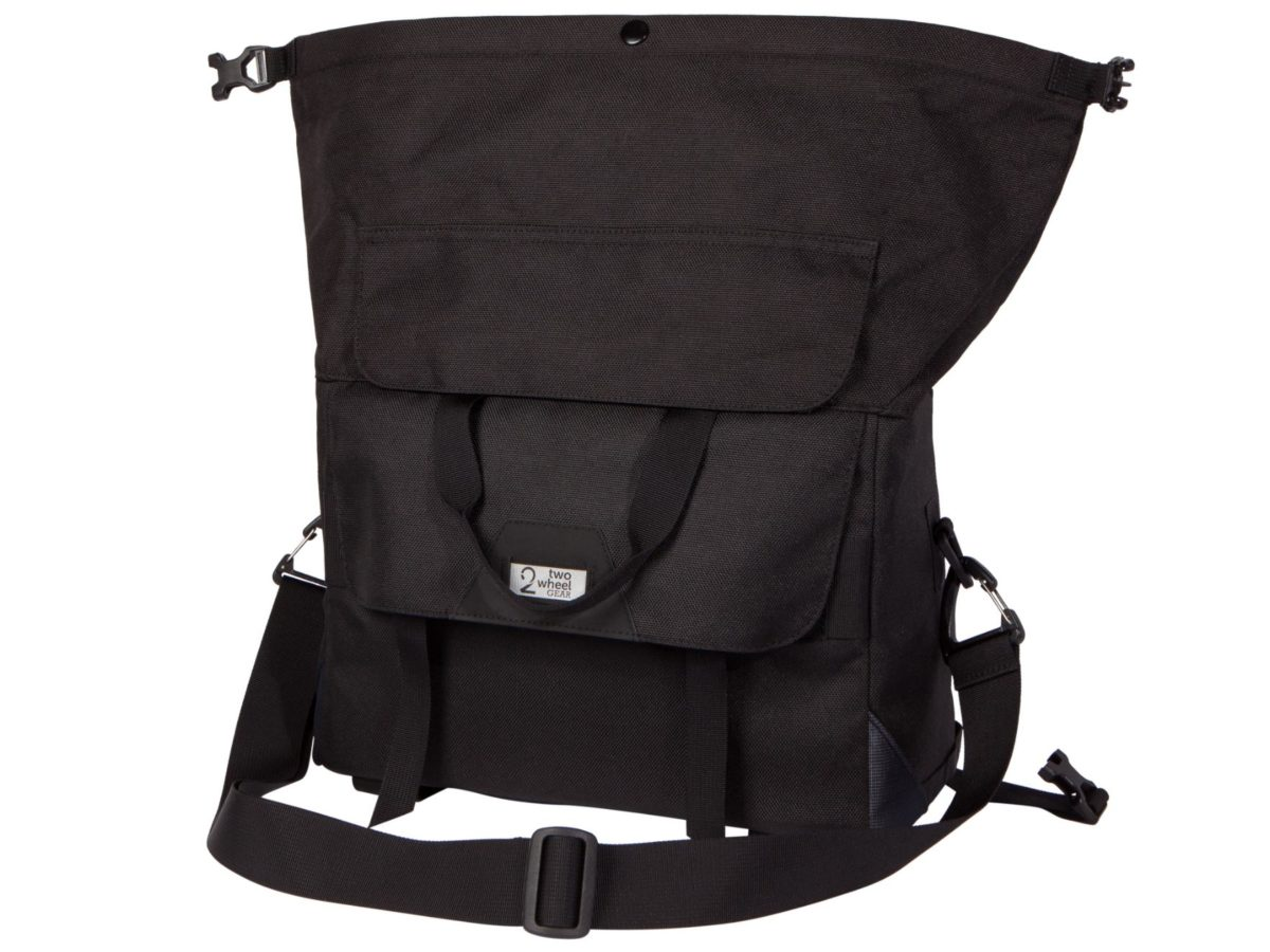 Two Wheel Gear – Dayliner Box Bag – Black-back-open