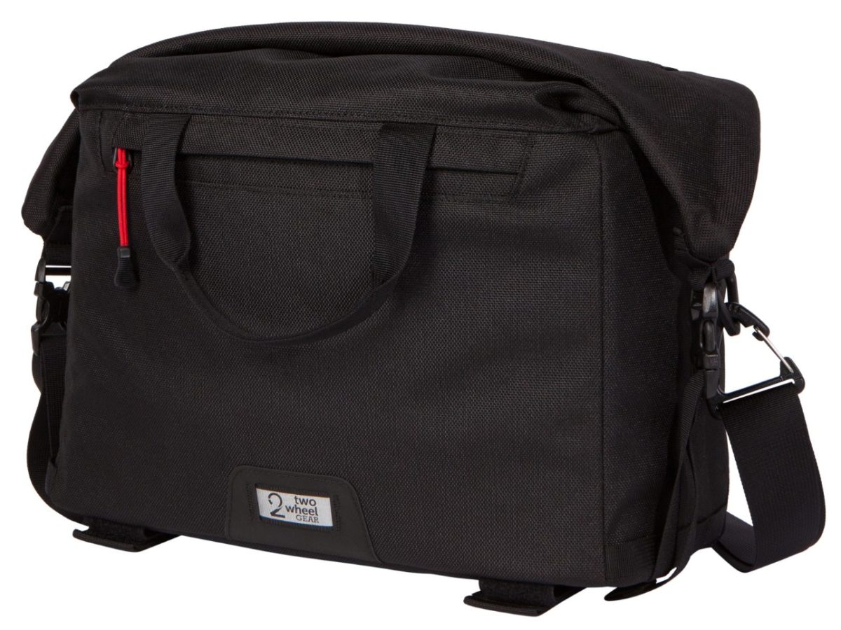 Two Wheel Gear – Dayliner Box Bag – Black-front-closed