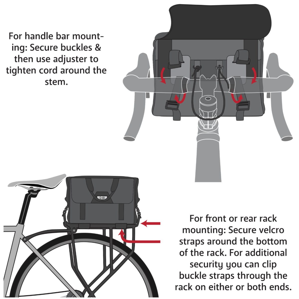 Two Wheel Gear – Dayliner Box Bag – Instructions