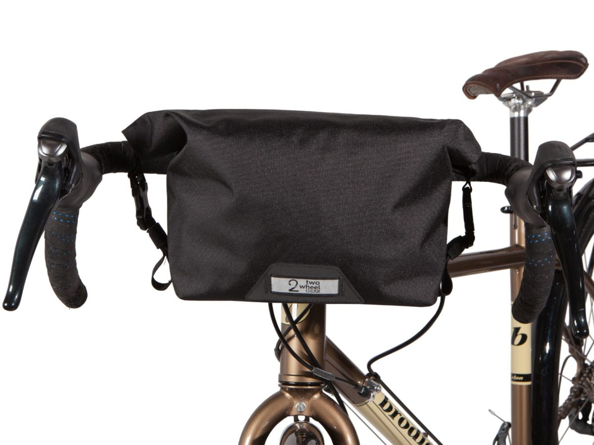 Two Wheel Gear – Dayliner Mini Handlebar Bag – Black – Front of Bike