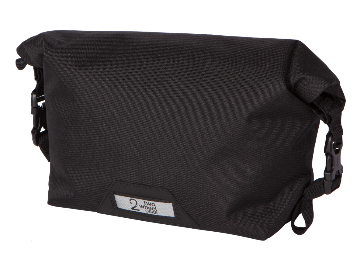 Two Wheel Gear – Dayliner Mini Handlebar Bag – Black-front-closed