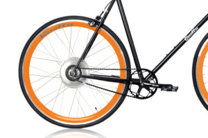 Electric Quella upgrade - Orange Rear Wheel