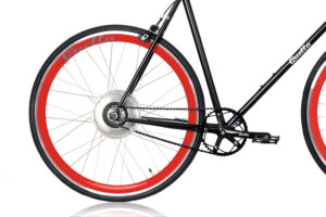 Electric Quella upgrade - Red Rear Wheel