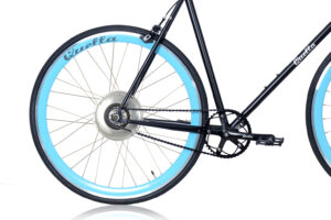 Electric Quella upgrade - Sky Blue Rear Wheel