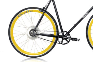 Electric Quella upgrade - Yellow Rear Wheel